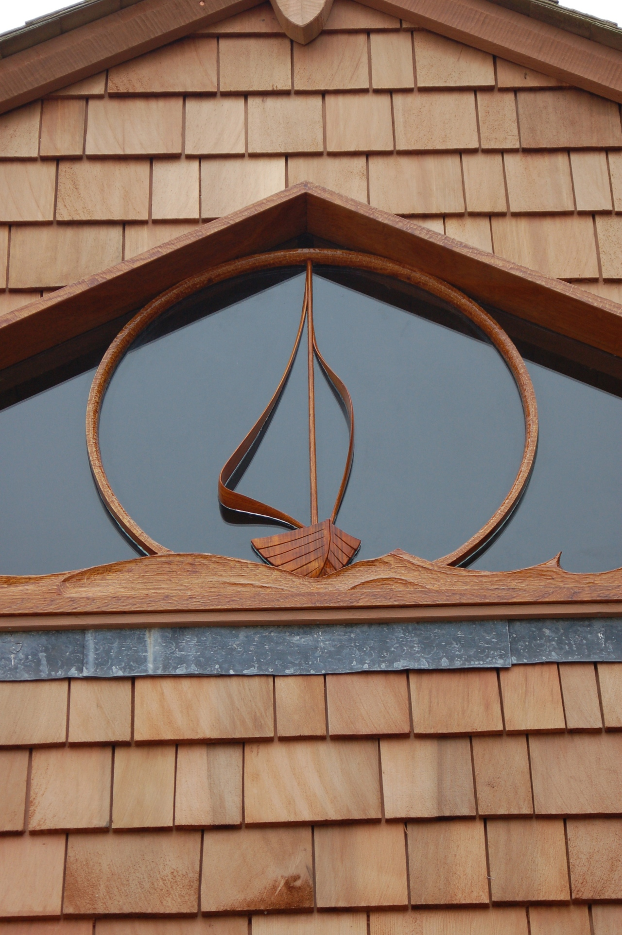 A boathouse window.